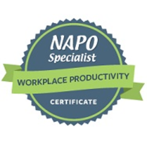 Just earned:  NAPO Specialist Certificate – Workplace Productivity